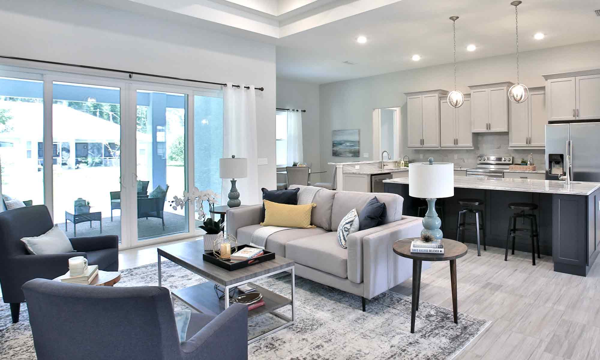 Living Room - Palm Coast, Florida | Amaral Homes and Pools in Palm Coast, Florida